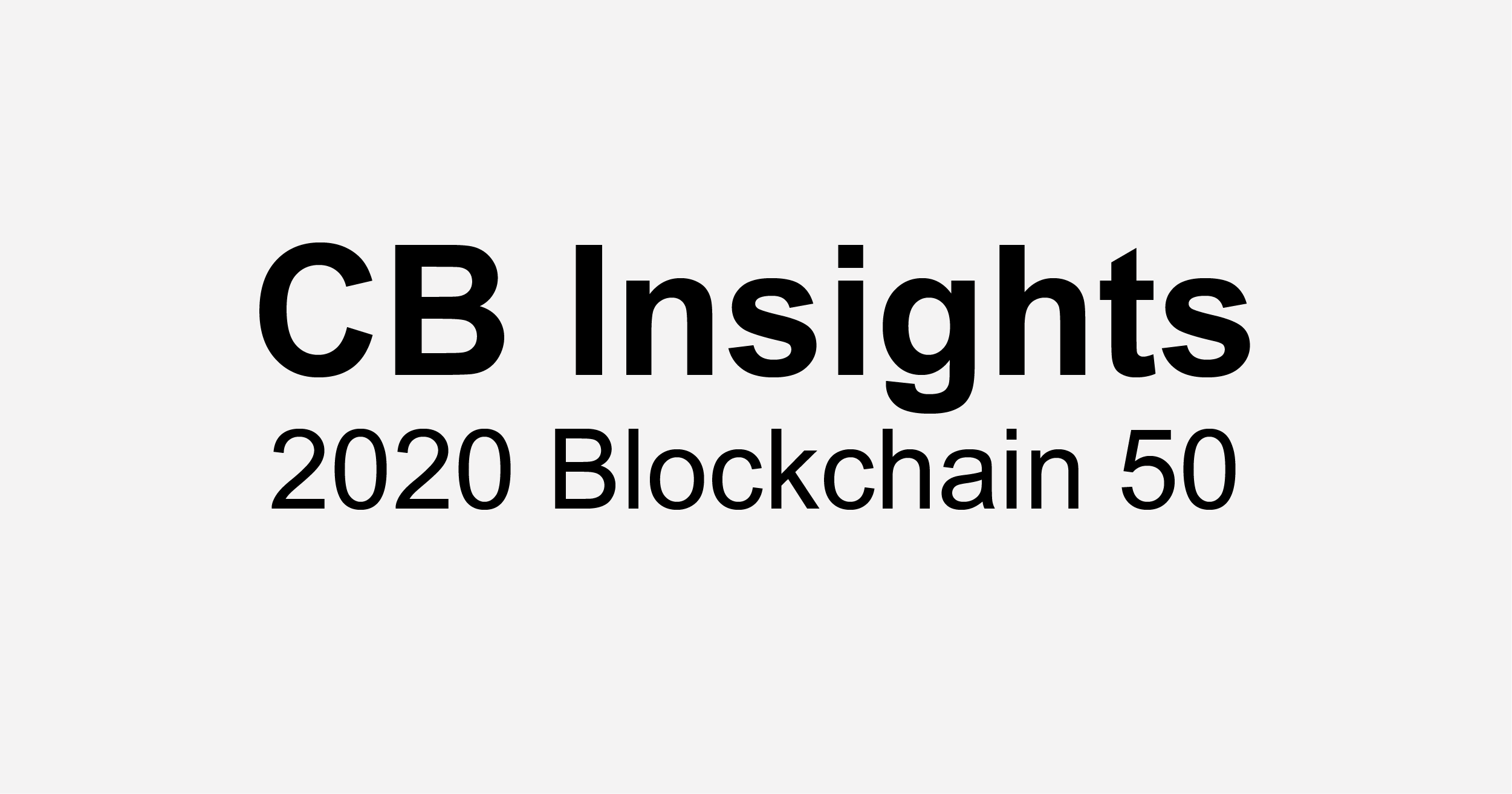 Data Gumbo Named to the 2020 CB Insights Blockchain 50