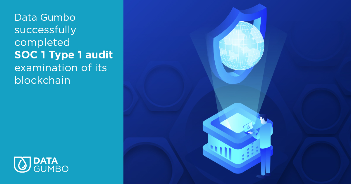 Data Gumbo completed the SOC Type 1 audit examination of smart contract blockchain network
